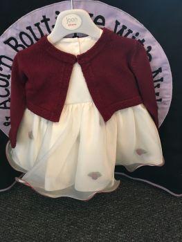 Rosebud Frill Dress with Bolero Cardigan