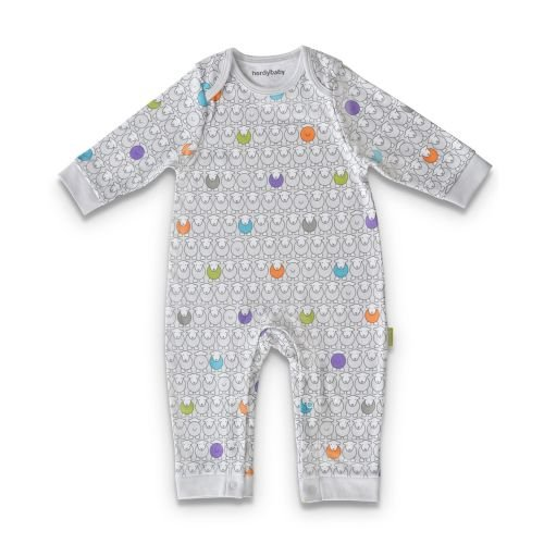 Patterned Babygrow.