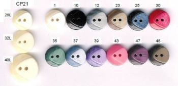 Chunky 2 Tone 2-Hole Button. Size 20mm