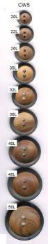 Burnt Rim 2-Hole Button