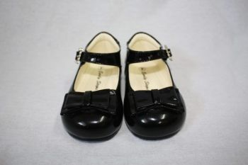 Early Steps Black Bow Shoes