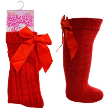 Soft Touch Heart Knee Socks with Bow