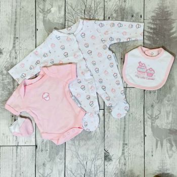 Pink Cupcake 4 Piece Gift Set. (3-5lbs & 5-lbs)