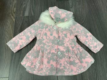 Pink Girl Dress and Coat Set