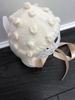 Popcorn Bonnet. Age 0-3 Months.