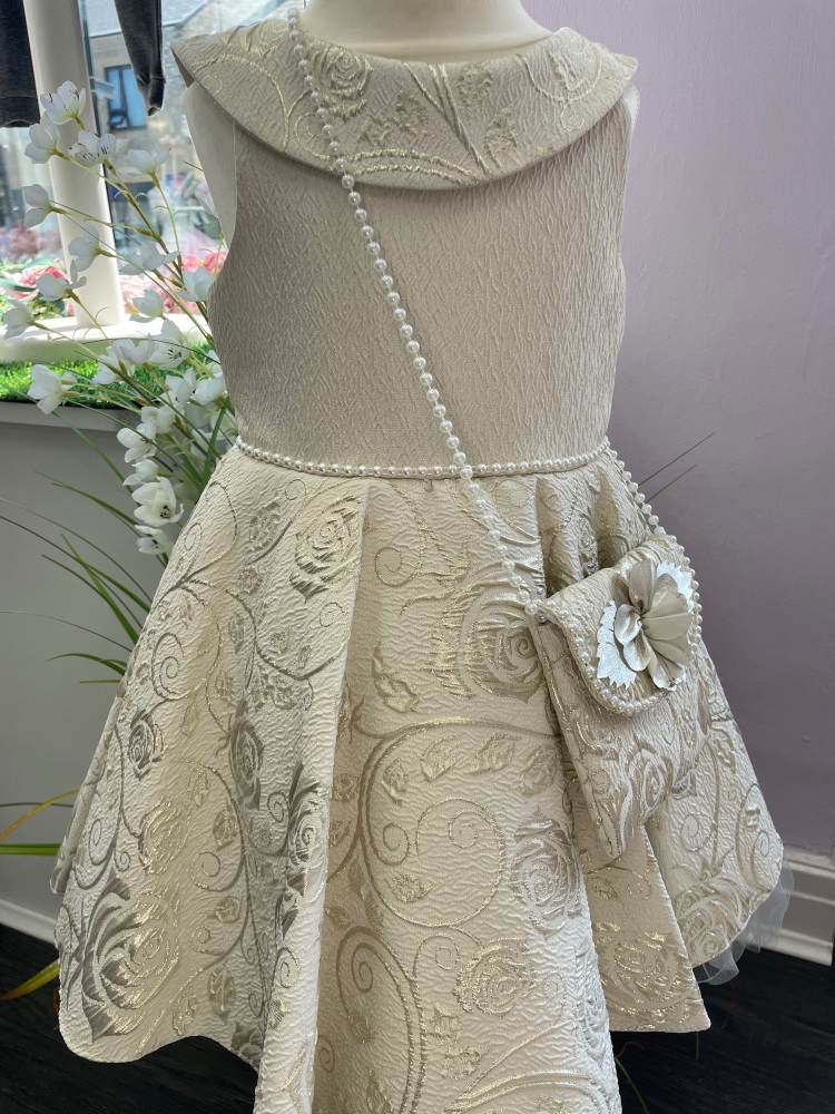 A*LIMITED EDITION* Gold Tutu Dress with Matching Dress