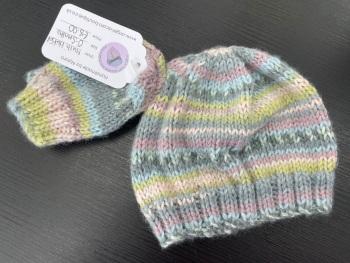 Hat & Mitten Set. Age 0-3 Months