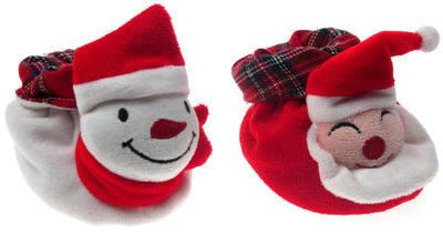 Velour Christmas FaceBooties