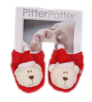 Teddy Santa Booties