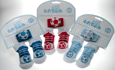 Sock & Rattle Wristband Set by Soft Touch