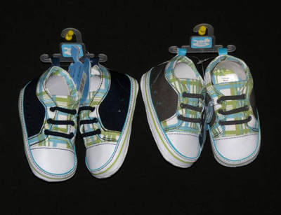 Checked Trim Sneakers