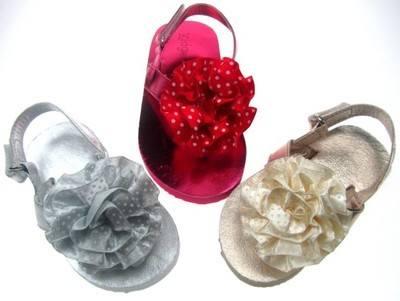 Eva Polka Dot Flower Sandals