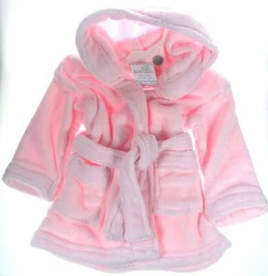 Hooded Pink Dressing Gown.