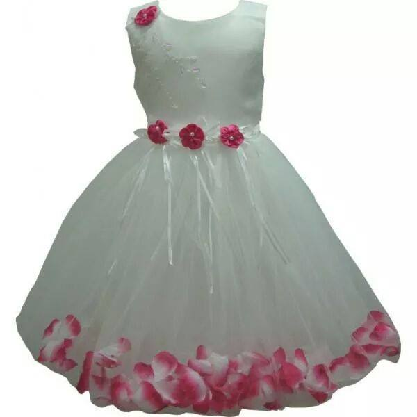 Frozen Rose Petal Design Dress. Style 0003