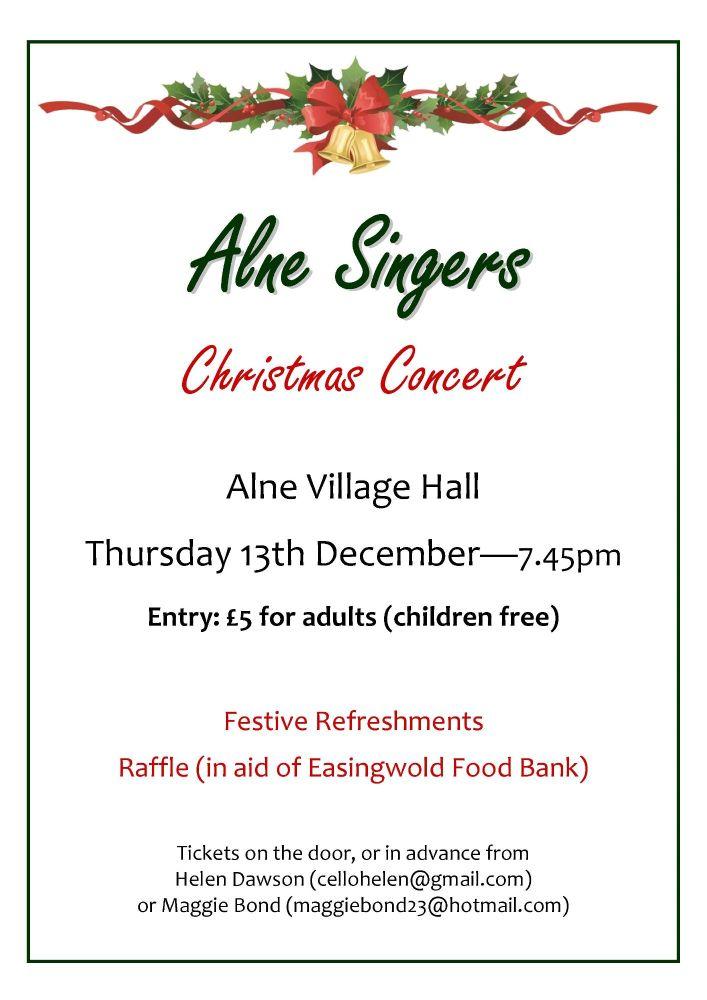 Alne Singers Christmas concert 2018