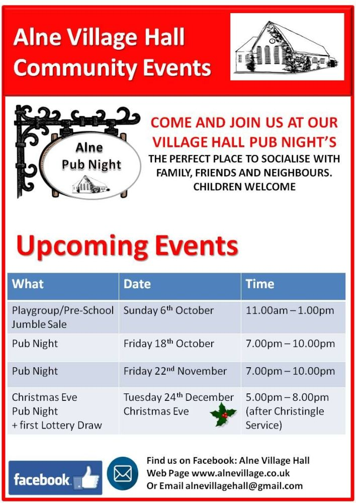 2019.10 Village Hall Community Events