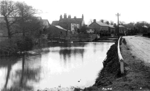 The old pond at the east end of the village