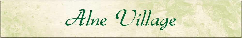 Alne Village, site logo.