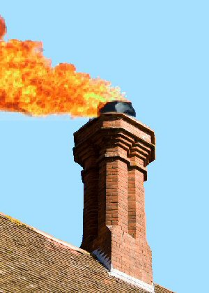 chimney on fire