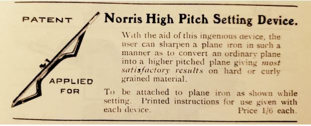 Norris high pitch setting device