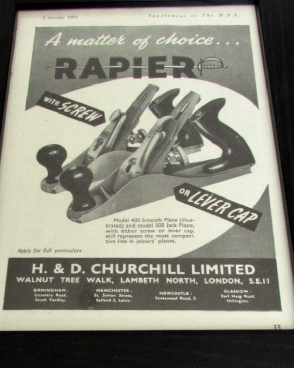 Rapier plnes advert1952