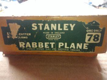 Rebate plane - Stanley no78