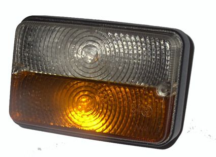 960 Lamp Front Combination Amber/Clear 17x115x55mm