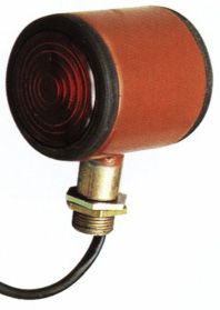 6110 Lamp Marker Barrel Red/Clear 12V 4w