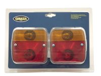3029 Lamps Trailer + bulbs 100mm 3 function Fpack of 2