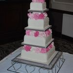 Pink Rose Cascade 4 tier