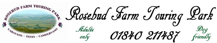 Rosebud Farm Touring Park, site logo.