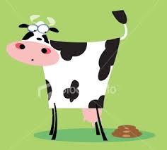 cartoon cow poo