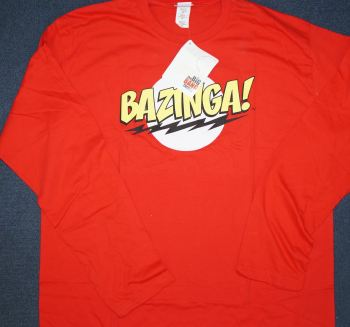 12  ladies big bang red bazinga t shirts £1.50