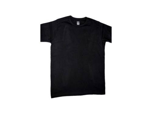 24 Men's Basic Black Cotton T Shirts