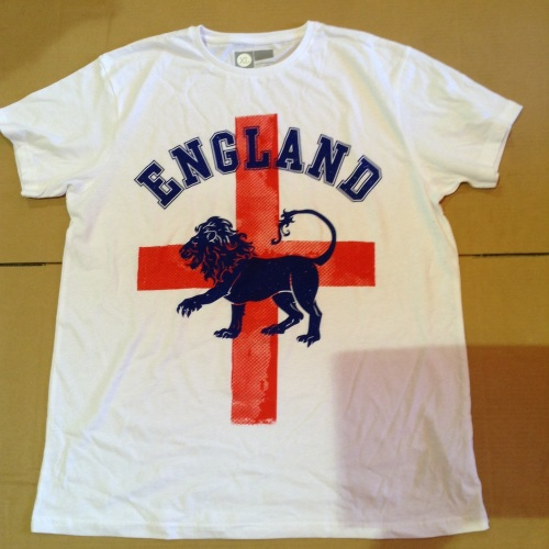 New Product 12 mens x store white england t shirts just £1.50 each