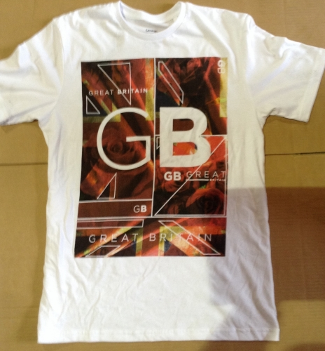 New Product 12 mens x store great britain t shirts just £1.25 each