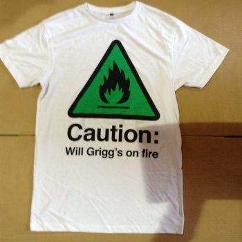 12 caution will grigg's on fire t shirts