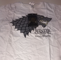 SALE!!!!!!!! 12 ladies white stark logo game of thrones t shirts just £1.00