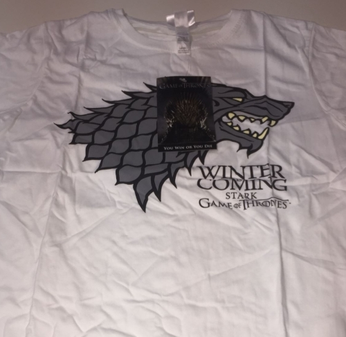New Product 12 ladies white stark logo game of thrones t shirts just £2.00
