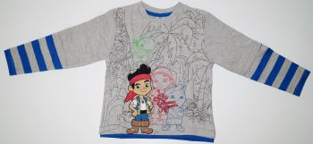 7 Boy's Jake and the Neverland Pirates Long Sleeved Tops