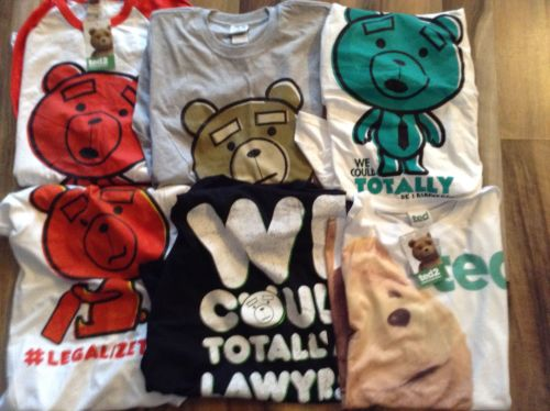 New Product 1OO ASSORTED TED 2 THE FILM T SHIRTS  JUST £1.00 EACH