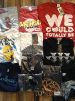 1OO ASSORTED  CHARACTER  T SHIRTS  JUST .65p EACH