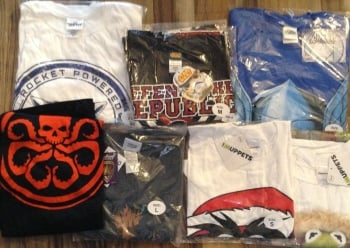65 mens assorted character t shirts just £2.00 each