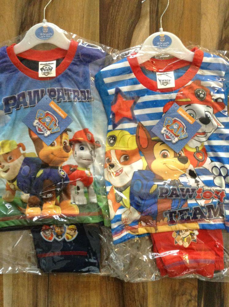 New Product 18 boys toddler paw parol sublimmated pyjamas just £2.25 each c