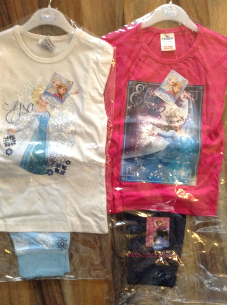New Product 18 girls frozen crop pyjamas just £2.50 each code 299410