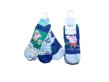 3 Packs of 3 Pairs George Pig Socks £1.50 a Pack of 3 One Size 3-5.5