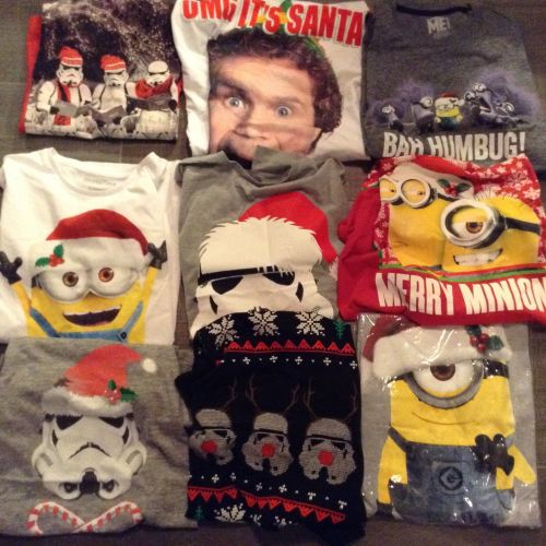 New Product deal deal 50 mens and ladies mixed character christmas t shirts
