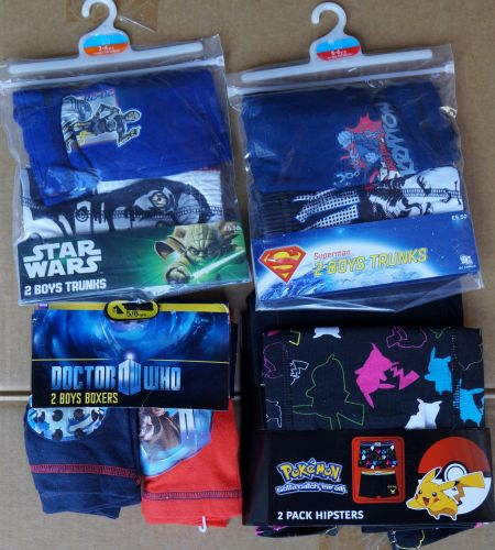 9 boy's 2 pack boxer shorts just £1.35 each