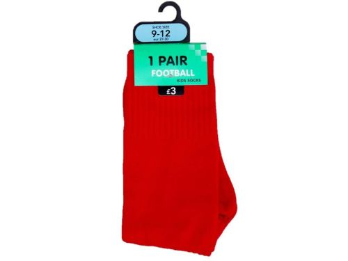 12 red boy's football socks just 60p a pair