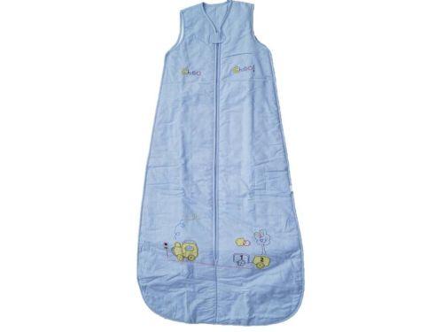 10 Choo Choo Cotton Chambrey Sleeping Bags 0.5 TOG Age 6-18 Months